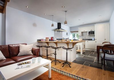 Bulls Barn open plan living and kitchen areas