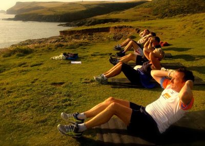 Cliff top fitness with Wavehunters