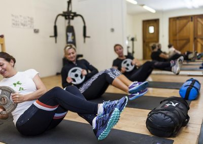 Fitness class in the studio at Mesmear