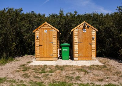 Glamping bathroom facilities