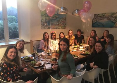 Hen party meal at Mesmear