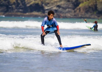 Learn to surf with Wavehunters at Polzeath