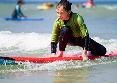 Learning to surf at Polzeath with Wavehunters