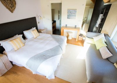 Master bedroom in The Mill at Mesmear Polzeath