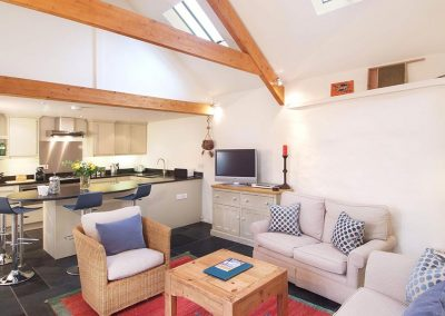 Open plan living areas in The Calfs House at Mesmear