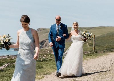 Polzeath wedding photograph