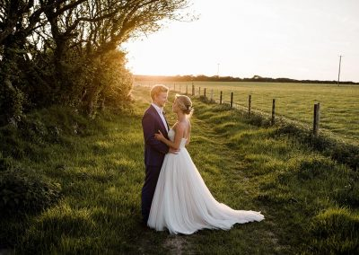 Sunset wedding photograph at Mesmear