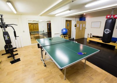 Table tennis in the gym at Memsear
