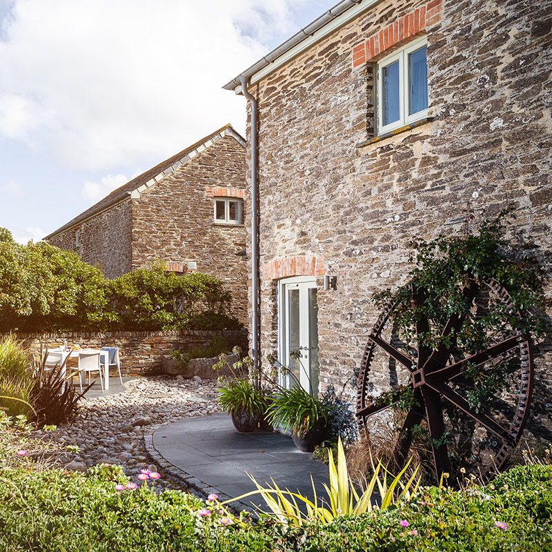 External image of The Mill at Mesmear. Polzeath Self-catering holiday barn sleeping 12