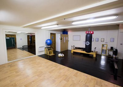 The gym and studio space at Mesmear