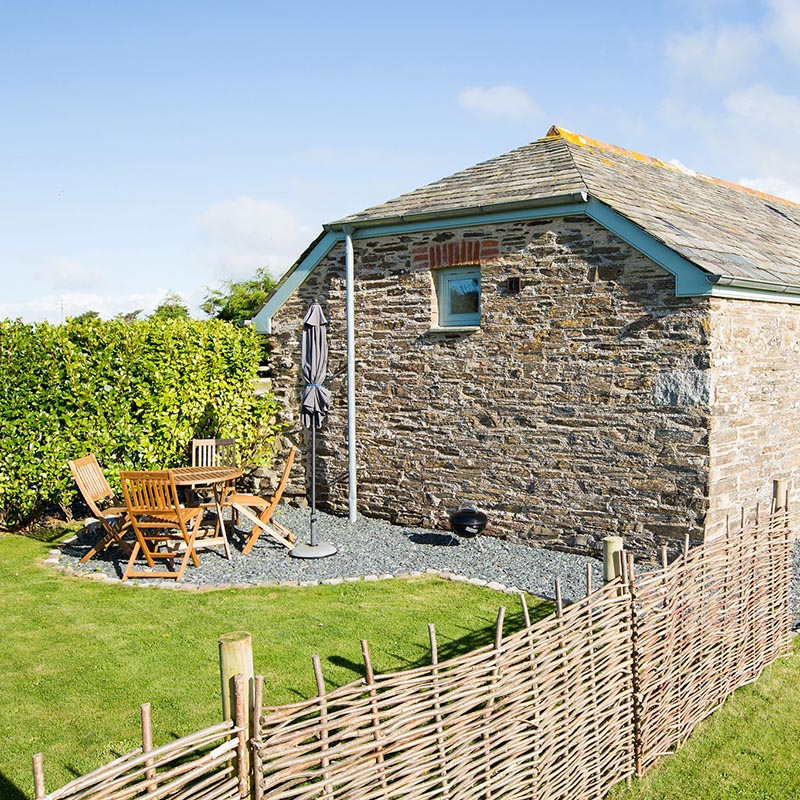 External image of the Tractor Shed at Mesmear. Polzeath self catering holiday barn on a farm. Sleeps up to 4.