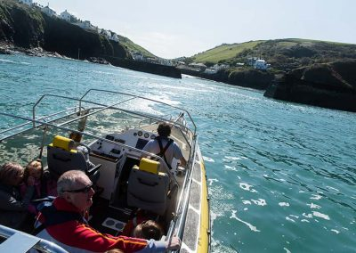 Wavehunters boat trip near Port Isaac harbour