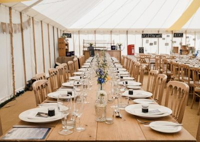 Wedding marquee at Mesmear