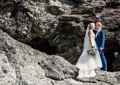 Wedding photo at Polzeath